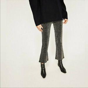 Zara Xsmall Knit Cropped Trousers